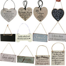 Retro Style Wooden Board Hanging Plaque Gift Sign Wall Door Home Decoration