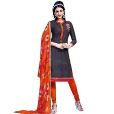 Ready to Wear Cotton Embroidered Salwar Kameez Rich Dupatta -Aditi-2605