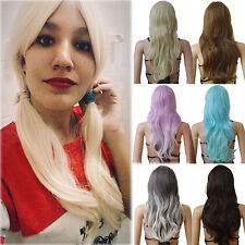 Ladies Women Cosplay Costume Party Full Wig Long Curly Wavy Hair Synthetic Wigs