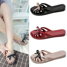 Women Jelly Casual Sandals Hollow Out Closed toe Non-slip Beach Shoes Slippers