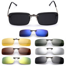 1PC Sunglasses Polarized Clip On Flip-up Driving Glasses Day Night Vision Lens