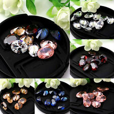 10X14mm One Oval Cut Natural Zircon Gems Diamonds Loose Gemstones 5Colors Gift