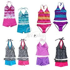 2Pieces Girl Swimwear Tankini Set Halter Bikini Swimsuit Bathing Suit Beachwear