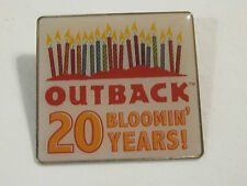 """Large Collectible Outback Steakhouse """"20 Bloomin Years"""" Pin"""