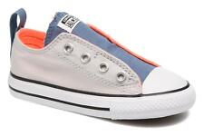 Kids's Converse Chuck Taylor All Star Simple Slip Velcro Trainers in Grey