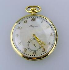 Longines 18K Breguet Pocket Watch w/ Mother of Pearl Dial