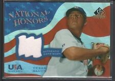 CESAR RAMOS 2004 SP PROSPECTS NATIONAL HONORS USA GAME USED JERSEY SP $12