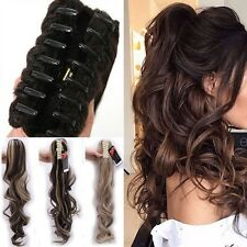 Long Layered Ponytail Clip In Hair Extension Claw Pony Tail Fake Hair human Lnk