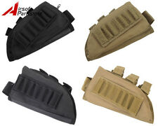 Airsoft Tactical Hunting Rifle Shotgun Ammo Stock Pouch Holder Right / Left Hand