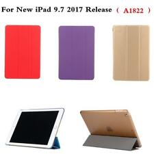 Folding Stand Slim PU Leather Case Cover for Apple New ipad 9.7 2017 A1822