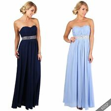 Women Ladies Strapless Padded Formal Cocktail Evening Party Long Prom Maxi Dress