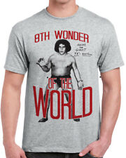 602 Andre the Giant mens T-shirt 8th wonder of the world eighth wrestling icon