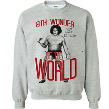 602 Andre the Giant Crew Sweatshirt 8th wonder of the world eighth wrestling new
