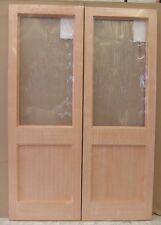 Hemlock 2XG External French Door Pair Wooden Timber Unglazed 78x60""