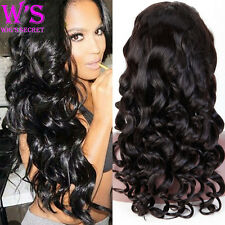 8A Human Hair Full Lace Wig Lace Front Wig 100% Brazilian Virgin Hair LOOSE Wave