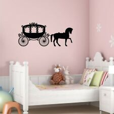 HORSE AND CARRIAGE FAIRYTALE wall stickers girls bedroom wall decals