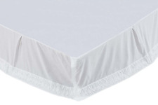 Adelia White Bed Skirt, Vintage Style Hand Pleated, Choice of Three Sizes