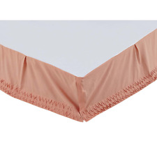 Adelia Apricot Bed Skirt, Vintage Style Hand Pleated, Choice of Three Sizes