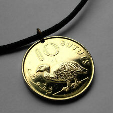 Gambia 10 Bututs coin pendant Gambian GAME BIRD necklace pheasant Africa n000577