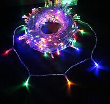 White 300 Outdoor Solar Powered LED Fairy String Lights Garden Wedding Party