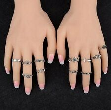 11Pcs/Set Fashion Boho Silver/Gold Arrow Moon Midi Finger Knuckle Rings Jewelry