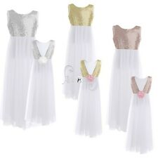 Pageant Flower Girls Wedding Glitter Sequin Tulle Bridesmaid Gown Easter Dress
