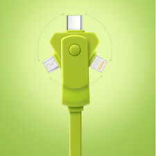 3in1 Charging Cable Mobile Phone Data Cable For Apple Lightning Type C Micro USB