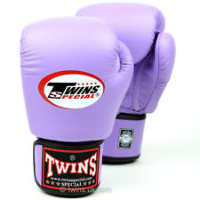 Twins Special Lavender Muay Thai Velcro Boxing Gloves - BGVL-3