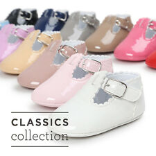 Newborn Girl Boys Kids Soft Sole Crib Shoes Toddler Sneakers Leather Shoes 0-18M