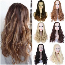 Fashion Style Half Wig Long Curly Cosplay Party Fancy Dress Wigs Women Ladies LC