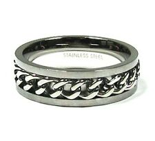 Link Chain Promise Ring in Stainless Steel  Plus Size 13
