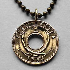 UK East Africa cent coin pendant Uganda Kenya Tanzania elephant necklace n000501