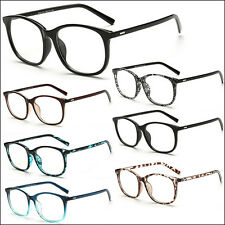 New Unisex Fashion Vintage Clear Lens Glasses Retro Nerd Geek Eyewear Eyeglasses