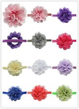 Kids Girl Baby Headband Toddler Lace Bow Flower Hair Band Accessories Colorful