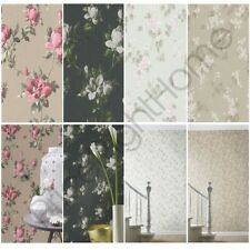 RASCH EMILIA FLORAL BLOSSOM & ROSE WALLPAPER SHABBY CHIC FEATURE WALL DECOR NEW