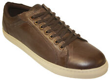 Mens Limited Edition Hand-Crafted Premium Leather Remus Low Lace Sneaker Shoes