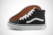 Vans Sk8-Hi Kids VN000D5F6BT Black True White Suede Canvas Casual Shoes Youth