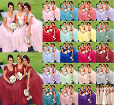 Prom New Lace/Chiffon Long Formal Party Ball Bridesmaid Evening Dress Size 6-24