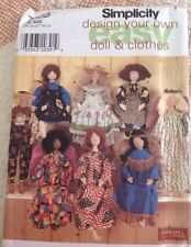 VINTAGE SIMPLICITY PATTERN 7668 - DESIGN YOUR OWN DOLL AND CLOTHES - UNCUT FF