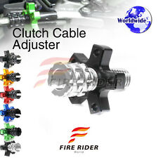 FRW 6Color CNC Clutch Cable Adjuster For Kawasaki Ninja 500 R EX500 06-09 07 08