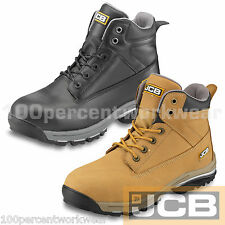 JCB WORKMAX Safety Chukka Work Boots Shoes Hiking Leather Steel Toe Cap Mid Sole