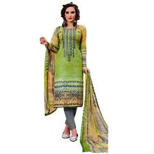 Readymade Cotton Printed Sober Embroidery Salwar Kameez Suit India-Belliza-44002