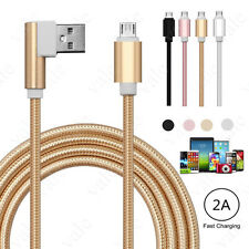 HIGH-SPEED Right Angle 90° Micro USB A to USB 2.0 B Data Sync Charger Cable 3FT