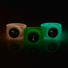 Glow in the Dark Slap On Snap Silicon Rubber Sports Watch New Christmas Gift