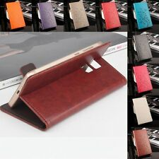"PU Leather Wallet Card Slot Case Cover Skin For 5.5"" Vernee Apollo Lite Phone"