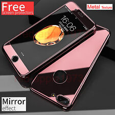 Hybrid 360° Hard Ultra Thin Mirror Case Tempered Glass Cover For iPhone 6 7 Plus