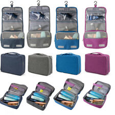 Hanging Travel Toiletry Zipper Bag Folding Cosmetic Pouch Case Wash Organizer