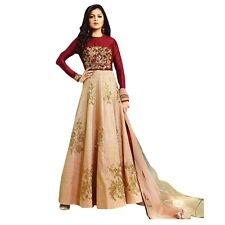 Designer Anarkali Full Length Salwar Kameez Suit Bollywood Dress India-LT-1007