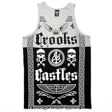 Crooks & Castles The Black Order Tank Top in Heather Gray & Black NWT FREE SHIP