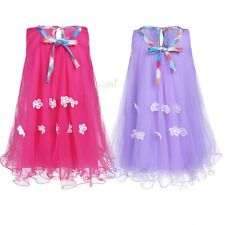 Kids Girls Summer Sleeveless Floral Tulle Dress Birthday Party Holiday Dress